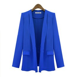 Wholesale Thin Blazers - Ladies Blazers and Coats Work Office Wear Long Sleeve Small Suit Black Bodycon Sequins Linen Thin Blazer Jackets Women Female