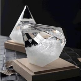 Wholesale Open Decor - Storm Glass Desktop Diamond Weather Glass Weather Forecast Bottle Crystal Tempo Globes Creative Storm Glass Craft Arts Gift Home Decor B3388