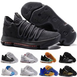 Wholesale patent color - KD 10 Basketball Shoes MVP Oreo black City Edition multi color White Chrome UniversIty Red Numbers Igloo Kevin Durant Sports Shoes Sneaker