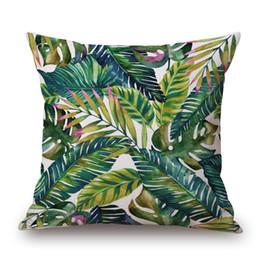 Cojines tropicales online-El nuevo estilo de la planta tropical almohadilla de almohada de algodón almohada Sofá almohada para decoración del hogar cojín