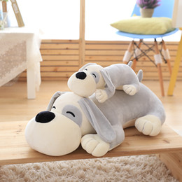 Wholesale Lying Dog Toys - Nooer 25 50cm Super Soft Dog Plush Toys For Children Stuffed Lying Dog Doll Sleeping Pillow Kids Toy Birthday Gift Free Shipping