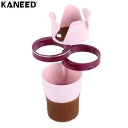 porta moneta automatica Sconti KANEED Universal Car Drink Holder Auto multifunzionale Dual Cup Holder Smartphone Drink Occhiali da sole Card Coin Piccoli accessori