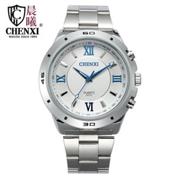 Wholesale Luminous Cross - Luminous fashion business steel belt watch, fashion women watch quartz watch cross-border brand watch wholesale CHENXI CX-027C