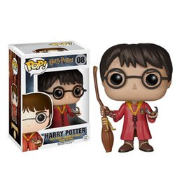 Wholesale Dolls Harry Potter - Harry Potter Funko POP Broom Red Movie Anime Action Figure Dobby Doll toy Animation 10CM 4inch Severus Snape Vinyl figure models professor