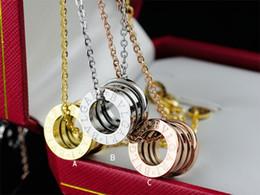 Canada Haute qualité Celebrity conception lettre diamant collier argenterie mode métal lettre céramique pendentif collier or bijoux avec boîte Offre
