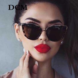 2019 vintage cateye brille DCM Cateye Sonnenbrille Frauen Vintage Gradient Gläser Retro Cat eye sonnenbrille Weiblichen Brillen UV400 günstig vintage cateye brille