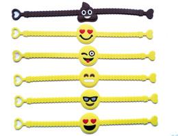 2019 emoji geschenke Pawliss Emoji Armbänder Armband Birthday Party Favors Zubehör für Kinder Mädchen Emoticon Spielzeug Preise Geschenke Gummiband Armband günstig emoji geschenke