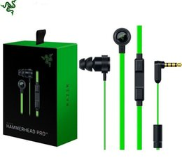 Wholesale Razer Hammerhead - Noise Isolation Stereo 3.5mm Razer Hammerhead Pro V2 Headphone in ear earphone With MicrophoneIn Ear Gaming headsets for All Smart phones