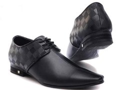 Sapatos de marca dos homens Sapatos de Vestido de couro material mens designer para homens com Couro Genuíno moda casual homens sapatos de luxo TAMANHO: 40-47 de Fornecedores de brilho de borgonha