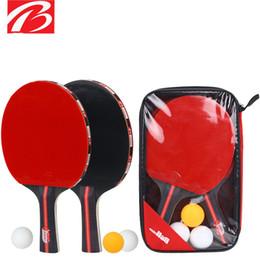 2019 raquetes de tênis de mesa dupla felicidade Raquete de tênis de mesa cross tiro iniciante treinamento tênis de mesa raquete de tênis de mesa terno dois tiros e três bolas