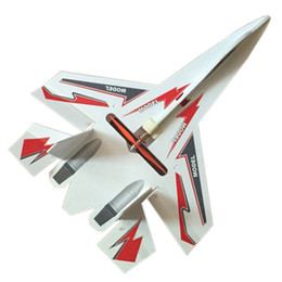 Wholesale plastic rc planes - Hot sale flash led rc plane su 27 model jet toys remote control airplane foam board small glider aircraft dropshipping