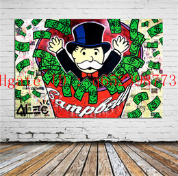 pinturas abstratas do nascer do sol Desconto Tableau Alec Monopoly,Home Decor HD Printed Modern Art Painting on Canvas (Unframed Framed)