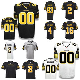 Wholesale jersey cat - 2018 Custom Men women Youth Canada Football Jersey New Hamilton Tiger Cats Jerseys 2 Johnny Manziel CFL White Black Embroidered Jersey