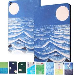 Wholesale ipad mini blue - For iPad Pro 10.5 Case Silk Pattern Auto Sleep Smart Filp iPad 2 3 4 5 6 Air 2 mini 3 4 Pro 9.7
