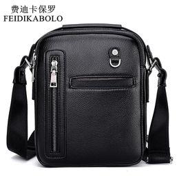Wholesale Mens Tote Bag Zipper - FEIDIKABOLO New Fashion Leather Men Bags Male Bag Mens Casual Business Crossbody Bags Handbags Messenger Small Men Leather Bag
