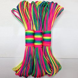 Wholesale Rope Climb Equipment - 31 Meter Colorful Paracord 550 Parachute Cord Lanyard Rope Mil Spec Type Iii 7 Strand Climbing Camping Survival Equipment