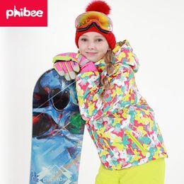 Boys Girls Skiing Set Children Outdoor Waterproof Windproof Winter  Snowboard Suit Kids Ski Jacket Warm Fleece Outerwear Set 50734cb43