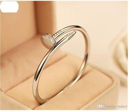 Wholesale coupling box set - Nail jewelry wholesale diamond bracelet couple models 18k rose gold bracelet and rings Korean star the same paragraph you want
