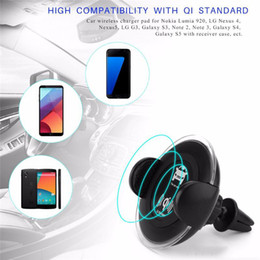 Wholesale charge induction - Wireless Car Charger Phone Chargers Car Mount Phone Holder Automatic induction cell phone holder charging for iPhone X iPhone 8plus Samsung