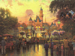 Wholesale Canvas Hd Paintings - Thomas Kinkade Landscape Painting Reproduction High Quality Giclee HD Print on Canvas Modern Wall Art Chrismas holiday Home Decoration HT287