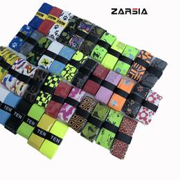 vendas al por mayor del entrenamiento Rebajas 10 unids ZARSIA NUEVO Sticky feel Tennis Grip varios impresión paern badminton raqueta overgrips