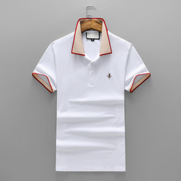 Wholesale Male Slim - 2018 New Fashion Men's Casual Cotton embroidery short sleeve T Shirts Slim male t shirt asian size