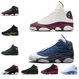 2019 chaussures roses Chaussures de basket pas cher 2018 13 Hommes GS Hyper Pink Playoffs Barons chat noir Chicago chaussures 13s Hommes Sneaker chaussures roses pas cher