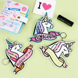 Wholesale Wallet Design Patterns - New Pattern Key Buckle Cartoon Unicorn Coin Bag Portable Zipper Design Practical Girl Popular Storage Wallet 4 8smc Y