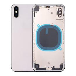 Housse couvercle porte batterie en Ligne-Boîtier arrière pour coque en métal de couvercle de batterie pour iPhone X pour iPhone X milieu