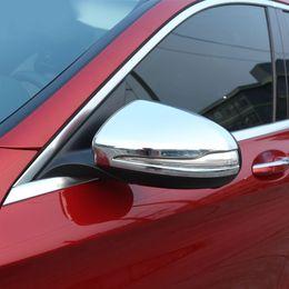 Wholesale Mercedes Benz Mirrors - Chrome Polish Chrome Side Rearview Mirror Cover Trim for Mercedes benz GLC C-Class W205 C180 C200 C63 2015-2017 Car Accessory
