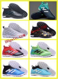 Wholesale Black Leather Tango Shoes - ACE 17 Purecontrol 17.3 Primemesh Football Boots IC TF X 16 Purechaos FG Soccer Shoes Nemeziz Tango Indoor Soccer Cleats Predator Mania