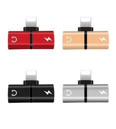 articulaciones doradas Rebajas Para i 7 8 Plus 2 en 1 Adaptador de carga de audio iOS 11 Toma de auriculares de 3,5 mm Conector de cargador AUX Convertidor