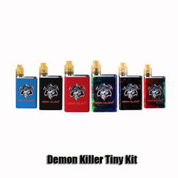 tiny batteries Coupons - 100% Original Demon Killer Tiny Kit Built-in 800mAh Battery Box Mod Tiny RDA Atomizer Resin Vape Kit Genuine