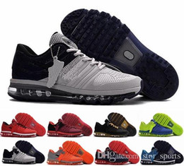 Argentina chaussures nike air max 2017 para hombre para correr, zapatillas de deporte de alta calidad 2017 KPU para hombres deportes naranja gris negro deporte al aire libre zapato atlético tamaño 40-47 Suministro