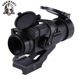 SINAIRSOFT Red Green Dot Attrazioni Caccia Shooting Game Riflescope 32mm M2 Avvistamento Telescopio Laser Sight con Reflex Scope per Picatinny Rail da