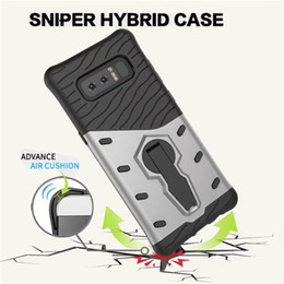 Wholesale Galaxy Note Holster Case - For Samsung Galaxy S9 S8 Plus S6 S7 Edge Note 8 Rugged Hybrid Armor Bracket Case 360 degree rotation kickstand Holster Protective Cover