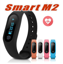 Wholesale Heart Monitors For Women - Smart Wristband M2 Smart Bracelet Heart Rate Monitor Pedometer Waterproof Bluetooth For iOS Android For Men Women