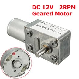 Torque 12v on-line-Motor alto do redutor do motor de sem-fim do turbocompressor do torque do torque da CC 12V 2rpm de GW370