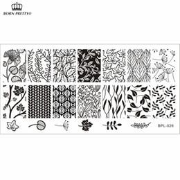 Estampado de uñas de arte x online-BP-L026 Hoja temática Nail Art Sello Plantilla Imagen Placa Rctangular Estampado Placas BORN PRETTY BP-L026 12 x 6 cm