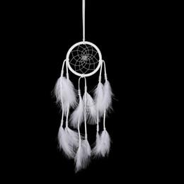 White Feather Wind Chimes Cattura Dream Net stile moderno serie di nozze appeso ornamento per appendere la parete Home Decor ornamenti di automobili da