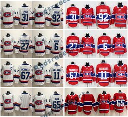 Wholesale Montreal Price - 2018 AD 100th Montreal Canadiens 31 Carey Price 6 Shea Weber 92 Jonathan Drouin Galchenyuk Pacioretty Shaw Brendan Gallagher Hockey Jerseys