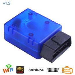 Wholesale elm 327 obdii scanner - Dewtreetali Car Codes Reader Diagnostic Tool ELM 327 WIFI OBDII V1.5 Interface ELM327 1.5 OBD2 Scanner With PIC18F25K80 Chip