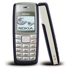 Wholesale Mobile Phone Unlocking - Refurbished Original NOKIA 1112 Unlocked Bar 2G GSM Mobile Phone Multi Language 4 Colors Full Set Free DHL 10pcs