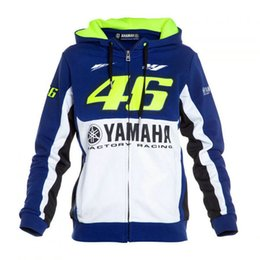 Wholesale riding jackets - motorcycle cotton hoodie VR46 Rossi hoodied fleece coat knight casual sweater daily riding long sleeves jacket blue and white euro size