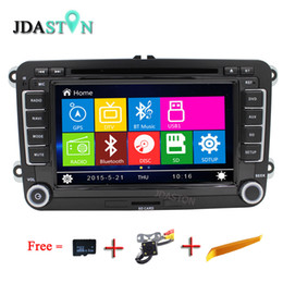 Wholesale gps for jetta - JDASTON Wince Car DVD Player For VW Jetta Sagitar Caddy Touran madotan Bluetooth Radio RDS GPS Navigation Phonebook