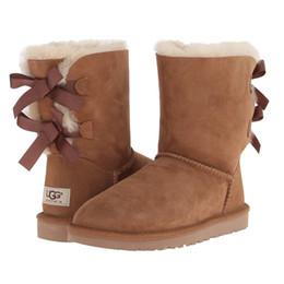 54723bb27f3 Dames bottes unsex australie classique des femmes en cuir designer bottes de  neige chaussures plates marron   noir bottes 3280
