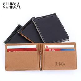 Wholesale Korea Style Male - New arrival High quality PU leather+suede men wallets fashion Korea money clip Europe style male card wallet men purses FGS02