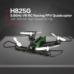 alarme chave de tampa Desconto H825g 5.8 ghz vp racer fpv zangão com câmera 55 kmh alta velocidade de resistência ao vento duplo alarme sem cabeça uma chave de retorno 3d flip