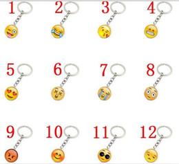 Llavero cara sonriente online-1000 unids Trendy Smiley Face collar colgantes de Emoji Sonrisa llavero Smiley Face llavero joyería feliz regalo Pendan J083