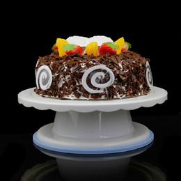2019 outil tranchant Plaque de gâteau pivotant décoration décoration support plate-forme platine tournante 28cm rond tournant outil de cuisson de gâteau pivotant